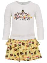 Unique Baby Girls Happy Thanksgiving Layered Skirt and Shirt Fall Outfit
