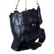 YU FENG Hanging or Hand-Held Scary Ghost Prop for Halloween Haunted House Creepy Party Decor(Black)