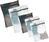 JClover Wash Bag(Pack of 5) - Premium Quality Lingerie Bags - Wash Bags for Bra - Small Laundry Bag with Zipper - Delicates Laundry Bag