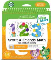 LeapFrog LeapStart Preschool Activity Book: Scout & Friends Math and Problem Solving, Great Gift For Kids, Toddlers, Toy for Boys and Girls, Ages 2, 3, 4