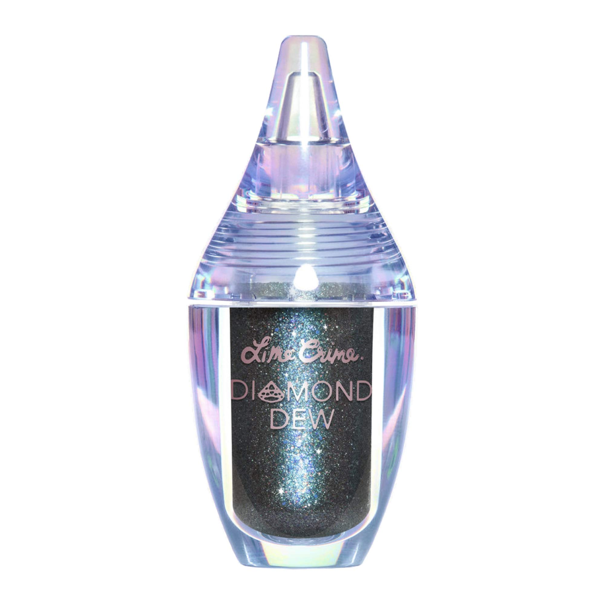 Lime Crime Diamond Dew Glitter Eyeshadow, Dragon - Iridescent Teal-Copper-Blue Lid Topper - Reflective Sparkle Shadow for Lids, Cheeks & Body - Won't Smudge or Crease - Vegan - 0.14 fl oz