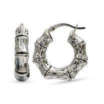 LeCalla Sterling Silver Jewelry Light-Weight Antique Hoop Earring for Women