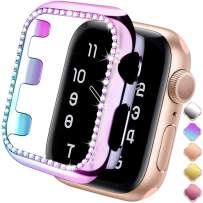 ZAROTO Compatible for Apple Watch Protector 38mm Series 3 2/1, Bling Cases Crystal Diamond Shiny Rhinestone Bumper Glitter Protective Plate Frame for Women Girl iWatch Face Cover Sparkle 38mm Color