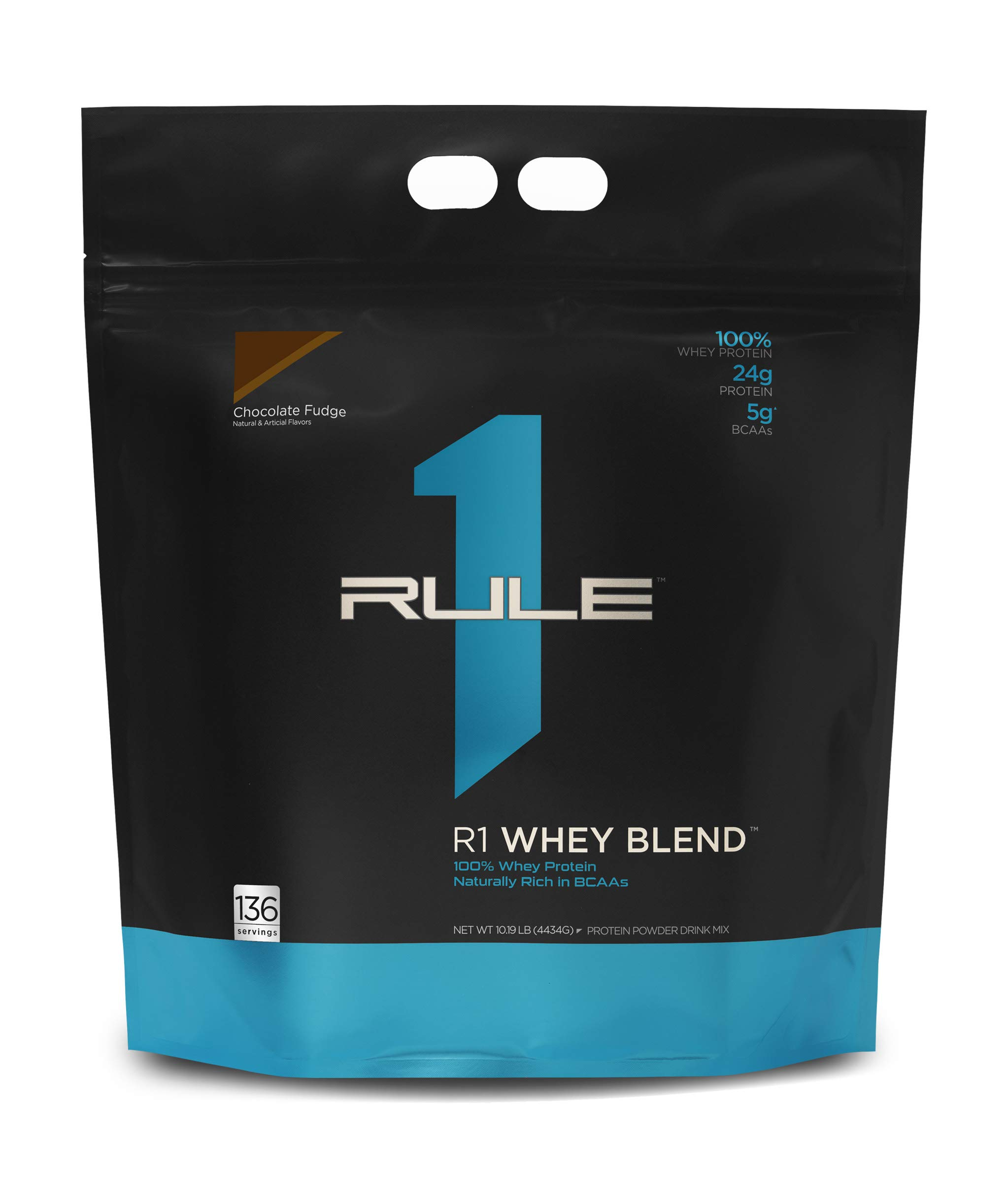 Rule One Proteins Whey Blend - Chocolate Fudge, 24g Fast-Acting Whey Protein Concentrates, Isolates, and Hydrolysates Per Serving, with Naturally Occurring EAAs and BCAAs, 136 Servings, 167.52 Ounce