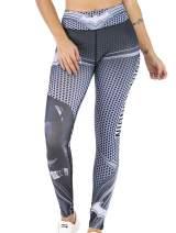 Red Plume Women's Superhero Digital Printing Leggings Yoga Pants Compressed Tight Trousers