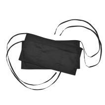 Waist Aprons Commercial Restaurant Home Bib Spun Poly Cotton Kitchen (3 Pockets) in Black 2 Pack