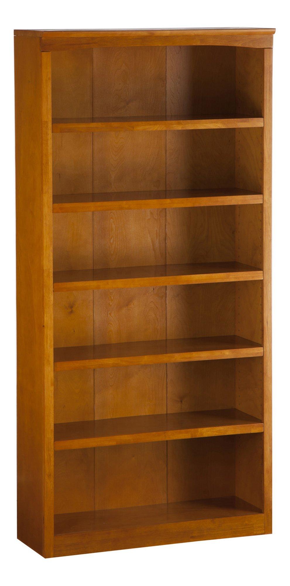 Atlantic Furniture Harvard Book Shelf, 72Inch, Caramel Latte