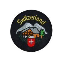Switzerland Swiss Alps Cabin Patch Travel Badge Ski Embroidered Iron On Applique