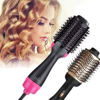 B.STAR One Step Hair Dryer and Styler Volumizer Oval Hot Air Brush Hair Dryer Brush Dry & Straighten & Curl Smooth Frizz with Ionic Technology