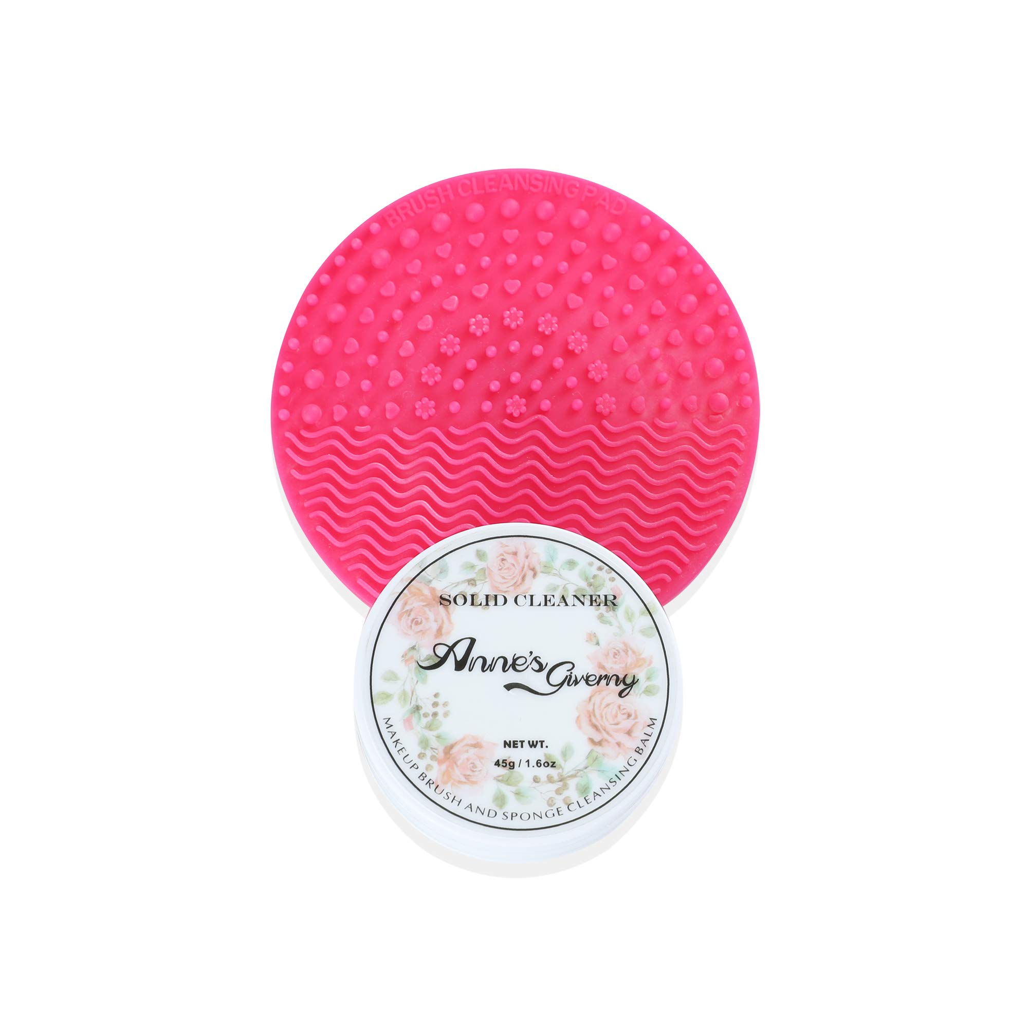 Anne's Giverny Makeup Brush Solid Cleaner Sponge Blender Cleanser (Cleaner+Pad)