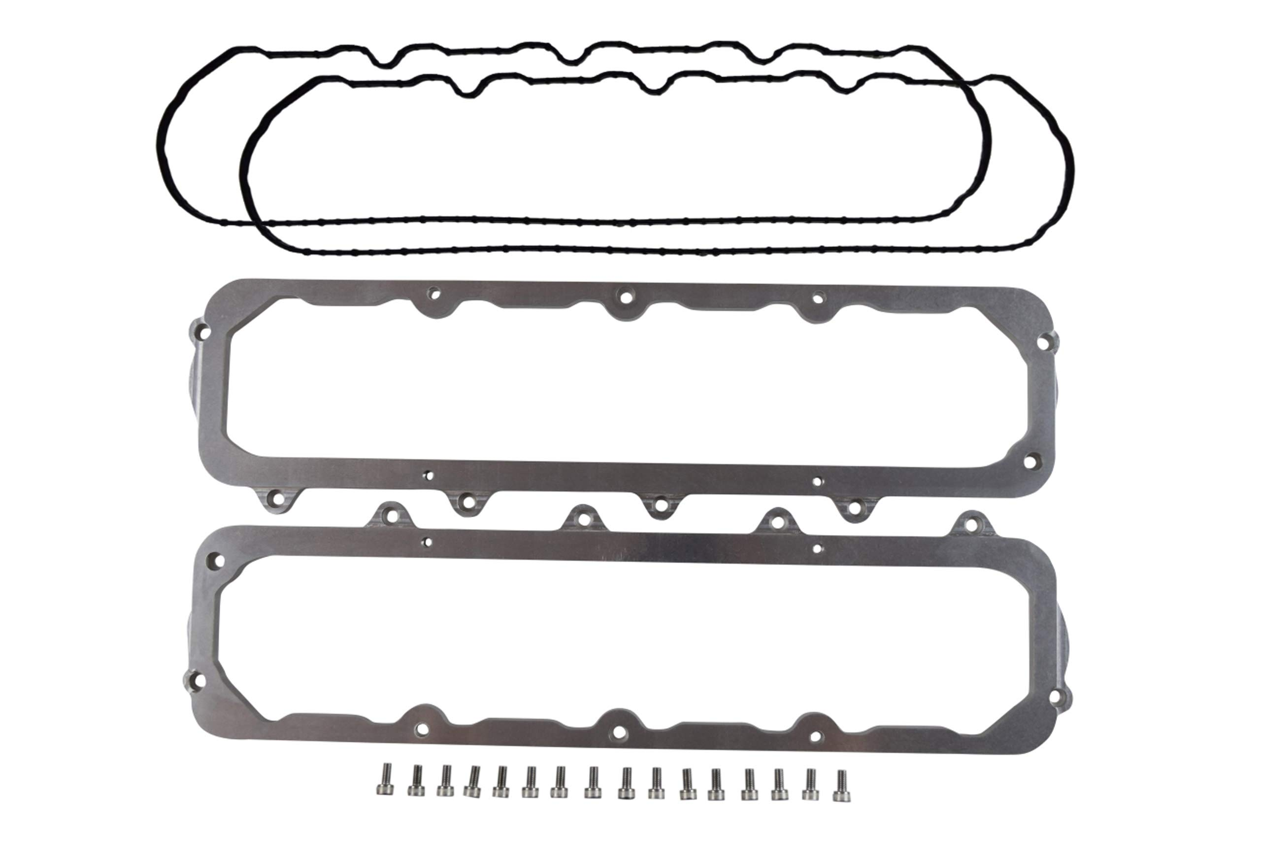 ICT Billet LT Gen V to SBC 1960-86 Valve Cover Adapter Plate Set LT1 LT4 L83 L86 LTX 551327