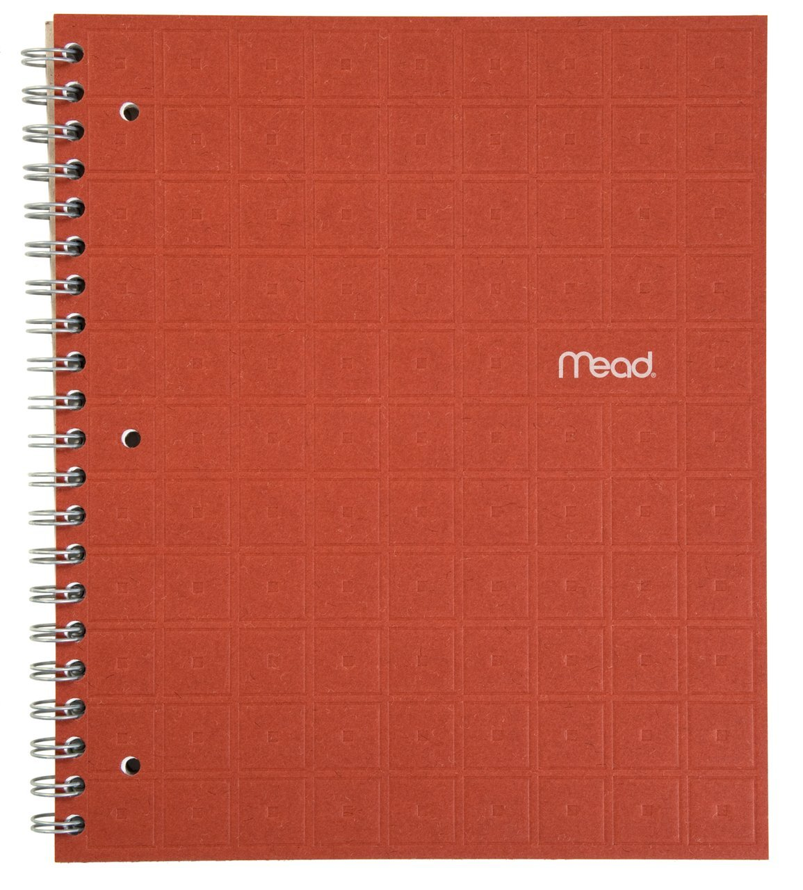 """Mead Spiral Notebook, 1 Subject, College Ruled Paper, 80 Sheets, 11"""" x 8-1/2"""", Recycled, Ginger (72437)"""