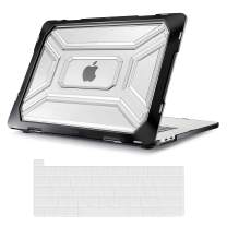 MOSISO MacBook Pro 16 inch Case 2019 Release A2141 with Touch Bar & Touch ID, Heavy Duty Plastic Hard Shell Case with TPU Bumper & Keyboard Cover Only Compatible with MacBook Pro 16 inch, Transparent