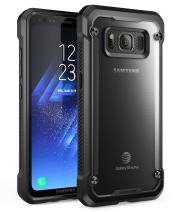 SupCase Samsung Galaxy S8 Active Case, Unicorn Beetle Series Premium Hybrid Protective Frost Clear Case for Samsung Galaxy S8 Active 2017 Release (Not Fit Regular Galaxy S8/S8 Plus) (Frost/Black)