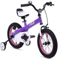RoyalBaby Boys Girls Kids Bike Honey Buttons 3-9 Years Old 12 14 16 18 Inch Training Wheels Kickstand Red Blue Green Purple Pink Kids Bicycle