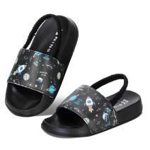 WateLves Toddler Boys Girls Slides Sandals for Swim Beach Kids Water Shoes