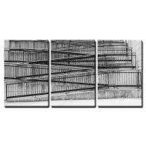 """Wall26-3 Piece Canvas Wall Art - Stairs. - Modern Home Art Stretched and Framed Ready to Hang - 16""""x24""""x3 Panels"""