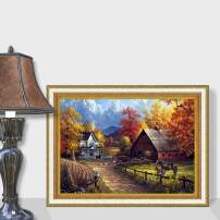 Onlyesh 5D Diamond Painting with Frames 10pcs Accessories Full Drill Round 30x40cm Diamond Art Kits for Home Wall Decor (Landscape)