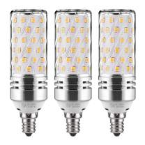 GEZEE E12 LED Corn Bulbs,15W LED Candelabra Light Bulbs 120 Watt Equivalent, 1500lm, Warm White 3000K LED Chandelier Bulbs, Decorative Candle, 4.1in2.1in, Non-Dimmable LED Lamp(3-Pack)
