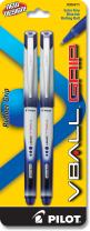 PILOT VBall Grip Liquid Ink Rolling Ball Stick Pens, Extra Fine Point, Blue Ink, 2-Pack (35411)