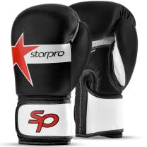 Starpro Boxing Gloves Sparring Training - Muay Thai Kickboxing Fighting Punching Heavy Duty Punch Bag Mitts Fitness Exercise Bag Glove | 8oz 10oz 12oz 14oz 16oz | Synthetic Leather for Men and Women