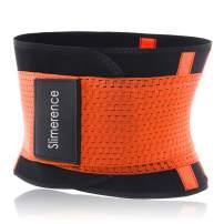 Slimerence Sweat Waist Trimmer Lumbar Support Belt Waist Trainer Belt for Weight Loss Adjustable Sauna Ab Belt Shapewear Slimming Body Shaper Belt Sport Girdle Belt Pain Relief