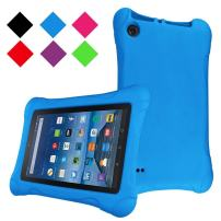 LTROP Compatible Kids Case for All-new Fire HD 8 2018/2017, Lightweight Shockproof Case Cover for Fire 8 inch Tablet (8th Generation - 2018 Release & 7th Gen - 2017 Release), Blue