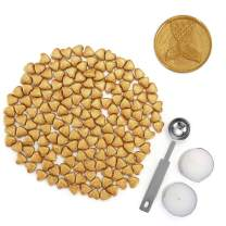Gold Sealing Wax Beads Set, Mornajina 150 Pieces Heart Shape Seal Wax Beads with Melting Spoon and Candles for Seal Stamp