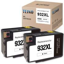 TEINO Compatible Ink Cartridge Replacement for HP 932XL 932 XL use with HP OfficeJet 6700 6600 7510 7612 6100 7610 7110 (Black, 2-Pack)