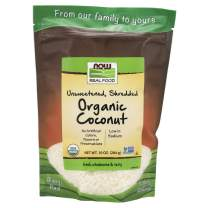 NOW Foods, Organic Coconut, Unsweetened and Shredded, No Added Colors, Flavors or Preservatives, 10-Ounce