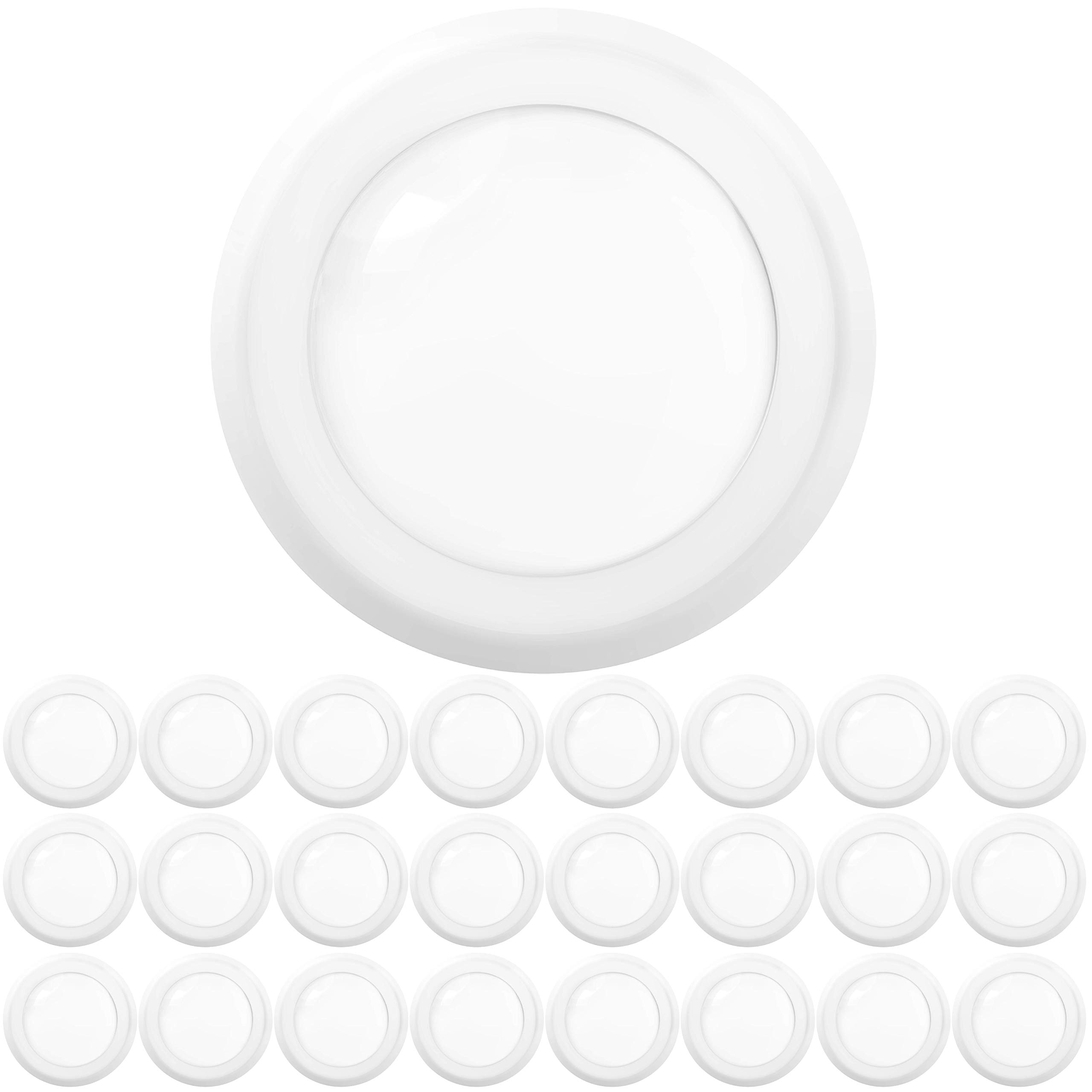 """Sunco Lighting 24 Pack 5 Inch / 6 Inch Flush Mount Disk LED Downlight, 12W=75W, 6000K Daylight Deluxe, 850 LM, Dimmable, Hardwire 4/6"""" Junction Box, Recessed Retrofit Ceiling Fixture"""
