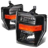 DNA MOTORING HL-OH-FSUPER08-BK-AM Headlight Assembly, Driver and Passenger Side
