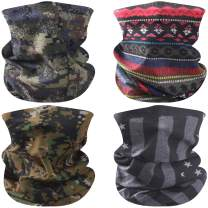 Facool Bandana Face Covering Dust Wind UV Sun Neck Gaiter Headwear Women Men