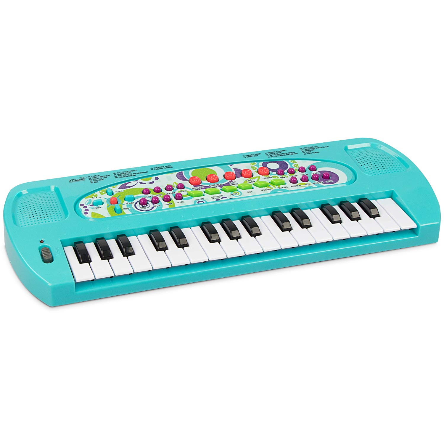 aPerfectLife Baby Piano Keyboard, 32 Keys Multifunction Electronic Kids Keyboard Piano Musical Instrument Toys for 3 Year Old Girls Boys (Blue)