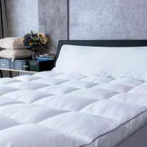 "Mattress Topper Twin, Plush Pillow Top Mattress Pad/Bed Topper, Hotel Quality Down Alternative (Twin 38"" x 74.4"")"