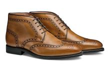 MORAL CODE The Reed: Hand Crafted Men's Leather Brogue Wingtip Chukka Dress Boot