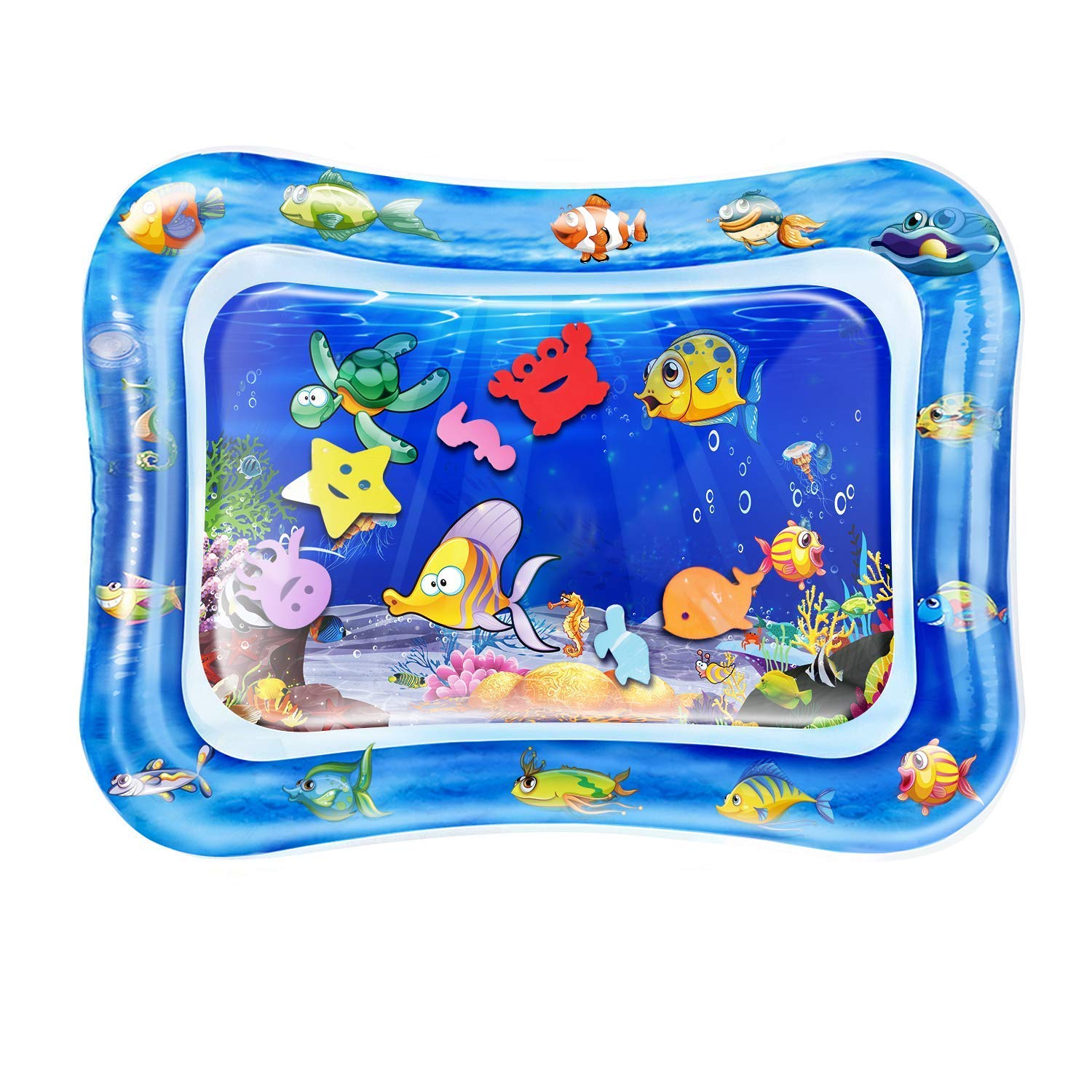 """QPAU Baby Toys 3-6 Months, Tummy Time Baby Water Mat, Infant Toy Inflatable Activity Center, Baby Toys 6 to 12 Months, 28""""x20"""""""