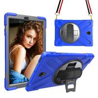 MAHYVE Case for iPad Air 10.5 Case 2019, iPad Air 3 Case 2019 with Heavy Duty Thicker Kickstand, Hand Strap, Full-Body Rugged Protective Covers for iPad Pro 10.5 Case 2017 (Blue)