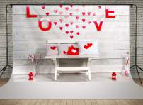 Kate 7x5ft Happy Valentine's Day Photography Backdrops Interior Wood Wall Decoration Photo Backgrounds Love Heart Baby Shower Photoshoot Props