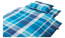 EMOOR-Zero Chemical-Free 3-Piece Cover Set for Japanese Futon Mattress, Comforter and Pillow, 100% Polyester, Semi-Double Size, Ocean