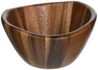 Lipper International Wave Bowls (Set of 12), Brown