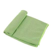 CICN Cooling Towel Quick-Drying Towel Two-Tone Cold Towel (1, Green)