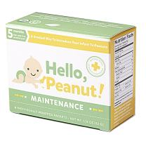 Hello, Peanut! Maintenance System for A Gradual Way to Introduce Your Infant to Peanuts, Follow Up to Introduction, Allergist Approved, All Natural, USDA Organic (8 Packets)