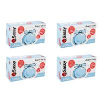 Sassy Disposable Scented Diaper Sacks - 800 ct - 4 packs of 200