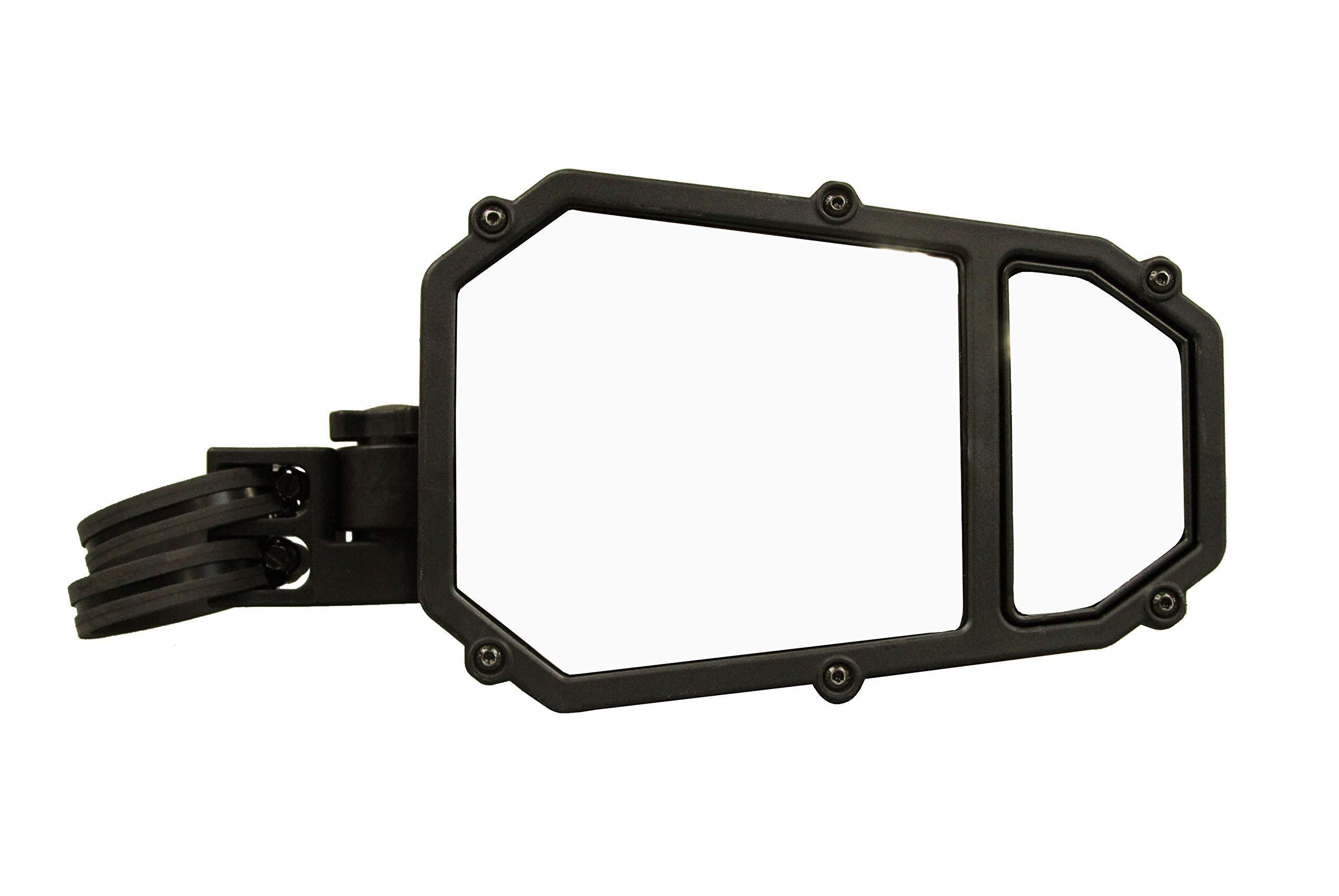 ATV TEK, UTVMIR-ES2, Elite Series UTV Side Mirror w/ Blindspot Technology & Dual Axis Breakaway - Fits ATVs and UTVs Compatible to Elite Series Adapter