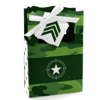 Camo Hero - Army Military Camouflage Party Favor Boxes - Set of 12