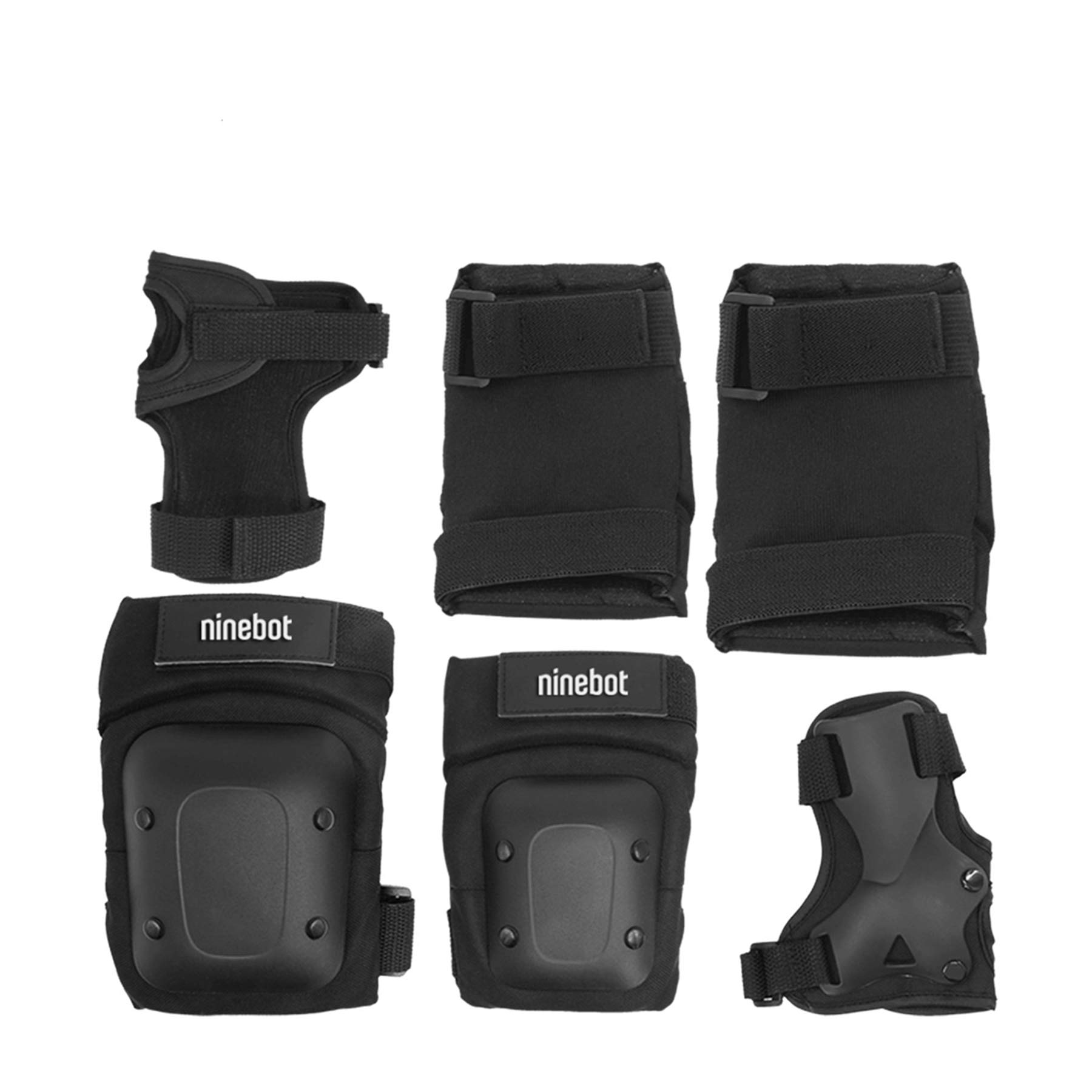 Segway Ninebot Protective Gear Set for Youth/Adult Knee Pads Elbow Pads Wrist Guards for Scooters Skateboarding Roller Skating Inline Skate Cycling Bike Bicycle, Black, S