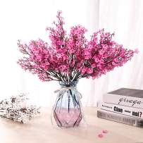 LUSHIDI 6PCS Artificial Baby Breath Flowers Fake Silk Real Touch DIY Floral Bouquets Decor Wedding Party Decoration Arrangements(Hot Pink)