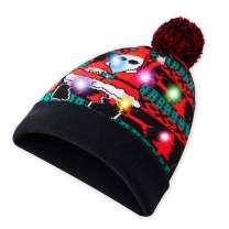 Led Light Up Ugly Christmas Hat Stylish Xmas Beanie Funny Novelty Knit Cap Holiday Sweater Beanie Hat