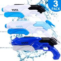 TNELTUEB Super Water Gun for Kids, 3 Pack Water Soaker Blaster Squirt Gun Fast Trigger Summer Toy for Swimming Pools Party Outdoor Beach Sand Water Fighting Toys